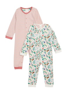 Mini Boden Pretty 2-Pack Rompers (Baby Girls)