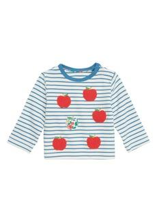 Mini Boden Pretty Bouclé Appliqué Tee (Baby Girls & Toddler Girls)