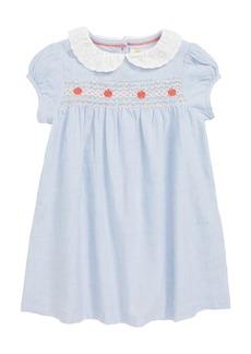 Mini Boden Pretty Collar Smock Dress (Baby Girls & Toddler Girls)