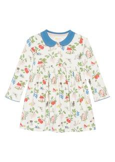 Mini Boden Pretty Collared Jersey Dress (Baby Girls & Toddler Girls)