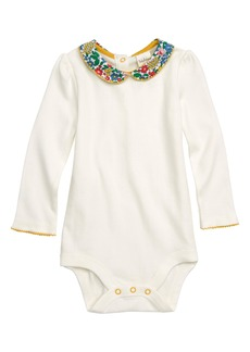 Mini Boden Pretty Floral Print Collar Romper (Baby Girls & Toddler Girls)