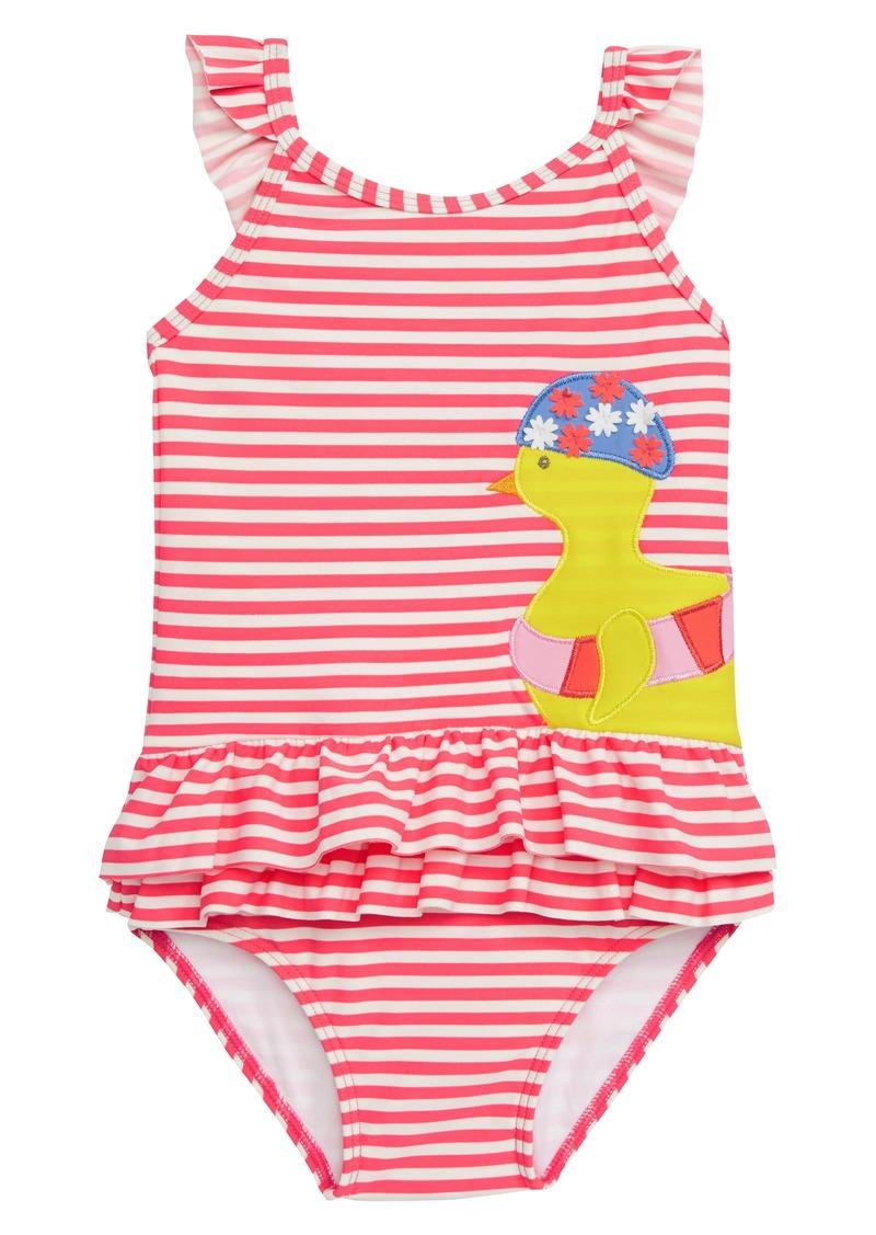 f86e47d921 Mini Boden Pretty Frill Appliqué One-Piece Swimsuit (Toddler Girls)