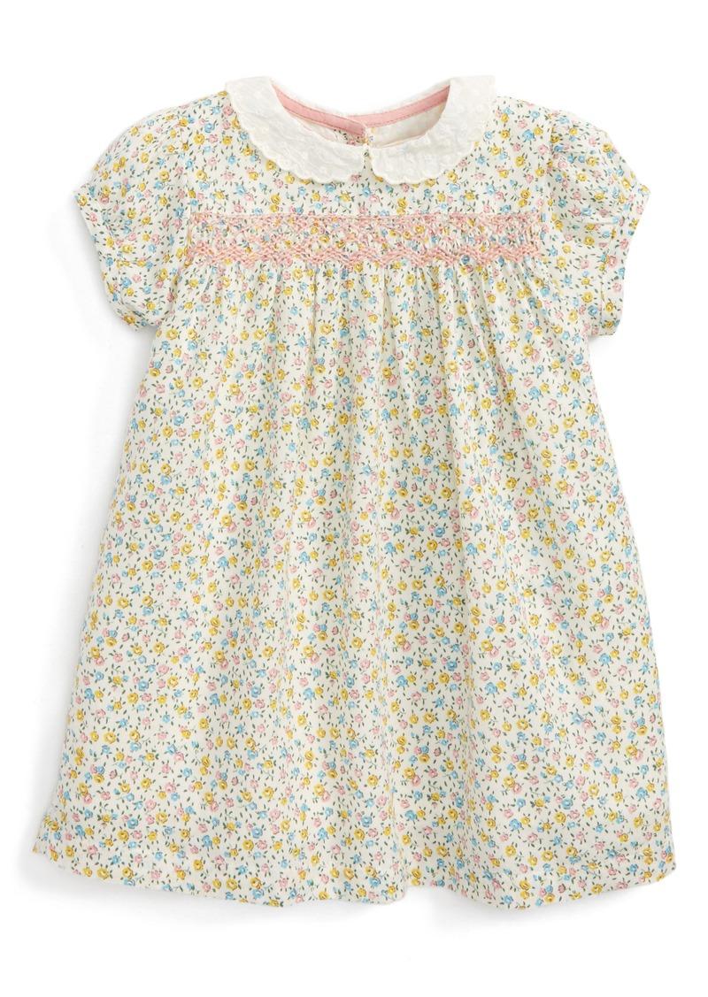 Mini boden yellow flowers bow dress