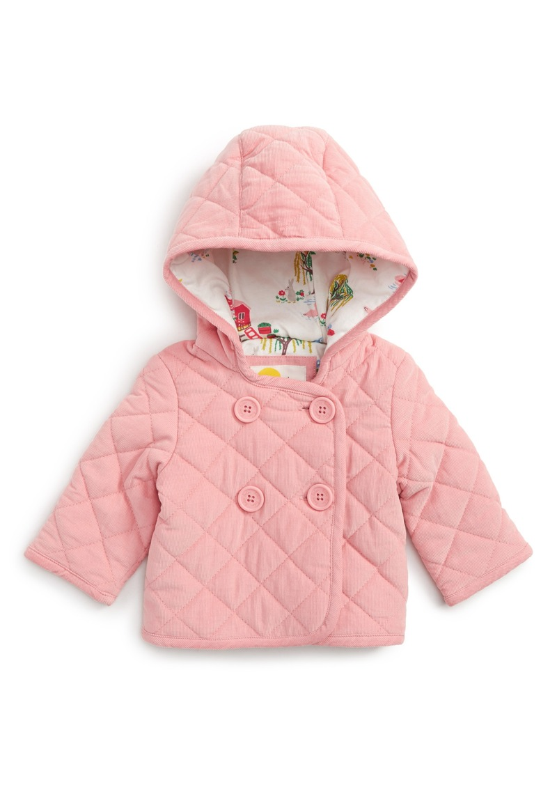 cadeb5b7a60a Mini Boden Mini Boden Pretty Quilted Corduroy Hooded Jacket (Baby ...