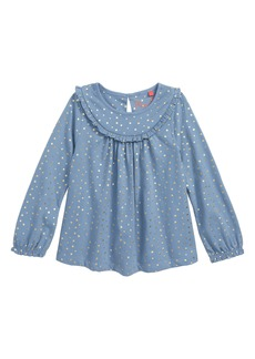 Mini Boden Pretty Ruffle Top (Toddler Girls, Little Girls & Big Girls)