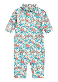 Mini Boden Pretty Surf One-Piece Rashguard Swimsuit (Baby Girls & Toddler Girls)