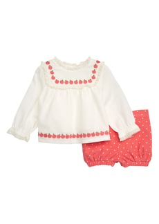 Mini Boden Pretty Woven Top & Bloomers Set (Baby Girls & Toddler Girls)