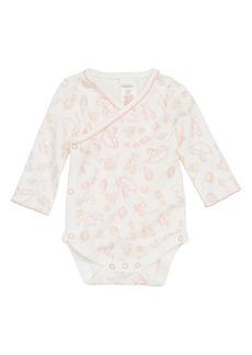 Mini Boden Pretty Wrap Bodysuit (Baby Girls)