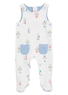 Mini Boden Print Footed Coveralls (Baby Boys)