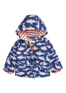 Mini Boden Print Hooded Jacket (Baby Boys & Toddler Boys)