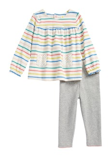 MIni Boden Print Jersey Tunic & Leggings Set (Baby Girls & Toddler Girls)