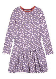 Mini Boden Print Long Sleeve Skater Dress (Toddler Girls, Little Girls & Big Girls)