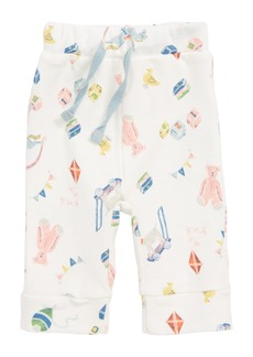 Mini Boden Print Pants (Baby Girls)