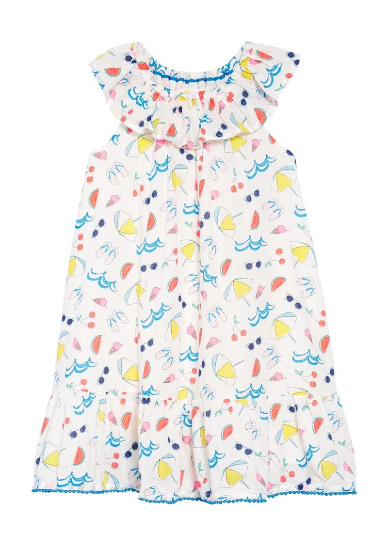 b5f3f9bcc4f Mini Boden Mini Boden Print Ruffle Neck Dress (Little Girls   Big ...