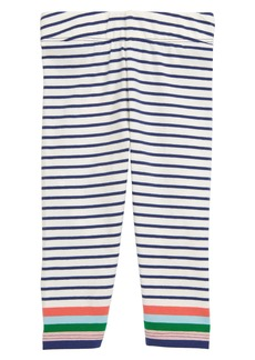 Mini Boden Print Stripe Leggings (Baby)