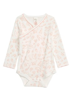 Mini Boden Print Wrap Bodysuit (Baby Girls)