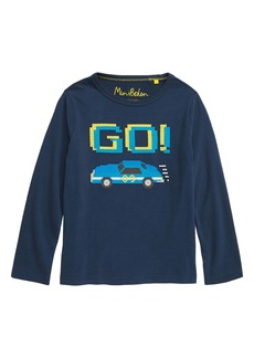 Mini Boden Race Car Embroidered T-Shirt (Toddler Boys, Little Boys, Big Boys)