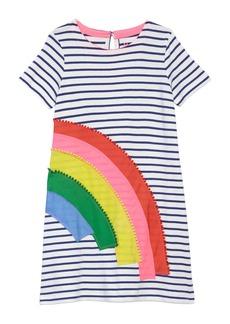 Mini Boden Rainbow Appliqué T-Shirt Dress (Toddler Girls, Little Girls & Big Girls)