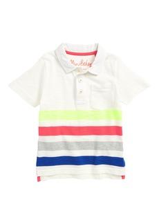 Mini Boden Rainbow Jersey Polo (Toddler Boys, Little Boys & Big Boys)