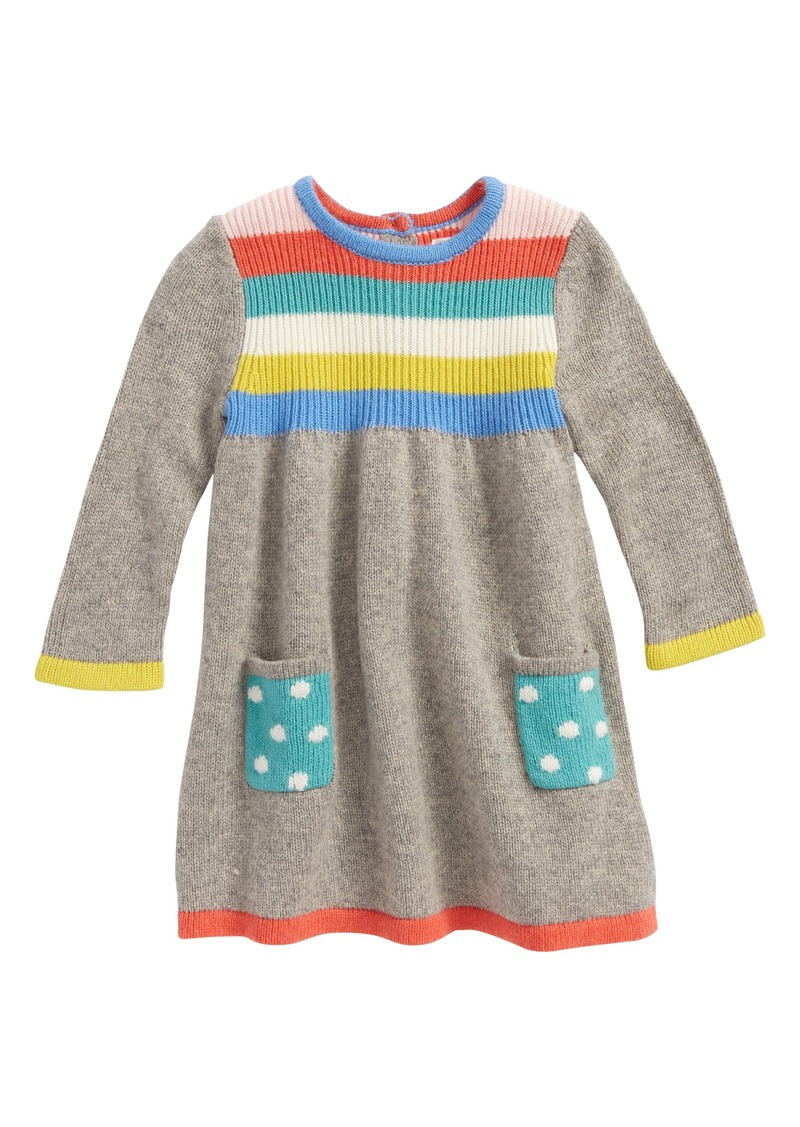 5aab498cfcd Mini Boden Rainbow Knit Sweater Dress (Baby Girls   Toddler Girls)