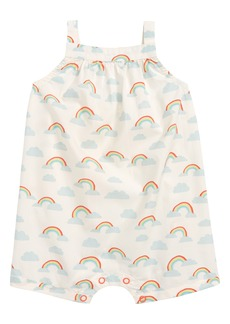 Mini Boden Rainbow Romper (Baby Girls)