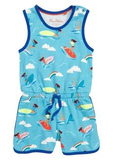 Mini Boden Retro Jersey Romper (Toddler Girls, Little Girls & Big Girls)