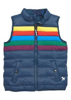 Mini Boden Reversible Puffer Vest (Toddler Boys, Little Boys & Big Boys)