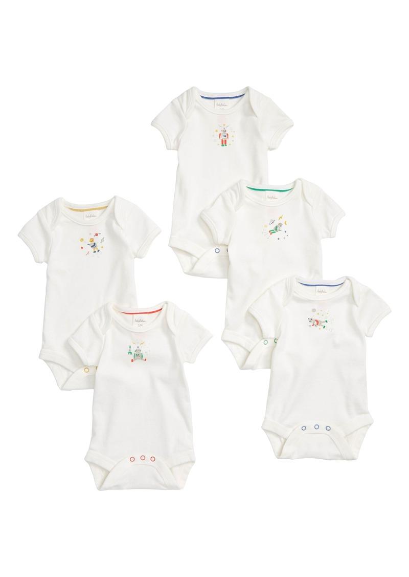 f1cdb8623 Mini Boden Mini Boden Robot 5-Pack Organic Cotton Bodysuits (Baby ...