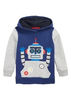 Mini Boden Robot Appliqué Hoodie (Toddler Boys, Little Boys & Big Boys)