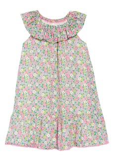 Mini Boden Ruffle Neck Dress (Little Girls & Big Girls)