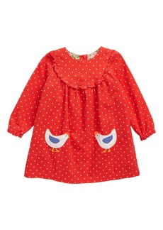 Mini Boden Ruffle Trim Dress (Baby)