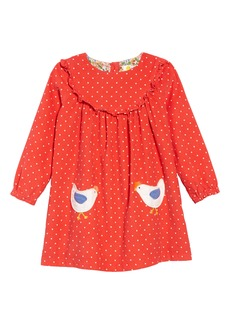 Mini Boden Ruffle Trim Dress (Toddler Girls)