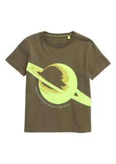 Mini Boden Saturn Glow in the Dark Graphic Tee (Toddler, Little Boy & Big Boy)