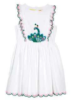 Mini Boden Scallop Embroidered Dress (Toddler Girls, Little Girls & Big Girls)