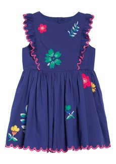 Mini Boden Scallop Embroidered Shift Dress (Toddler Girls, Little Girls & Big Girls)