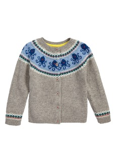 Mini Boden Sea Creature Cardigan (Baby & Toddler)