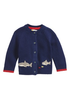 Mini Boden Sea Creature Sweater Cardigan (Baby Boys & Toddler Boys)