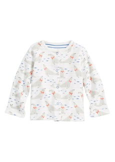 Mini Boden Seals Reversible Organic Cotton Jacket (Baby Boys)