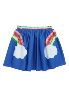 Mini Boden Sequin Appliqué Rainbow Skirt (Toddler Girls, Little Girls & Big Girls)