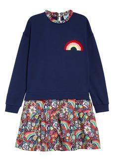 Mini Boden Sequin Color-Change Dress (Toddler Girls, Little Girls & Big Girls)
