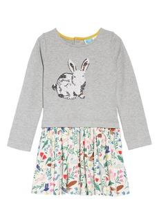 Mini Boden Sequin Logo Bunny Dress (Toddler Girls, Little Girls & Big Girls)