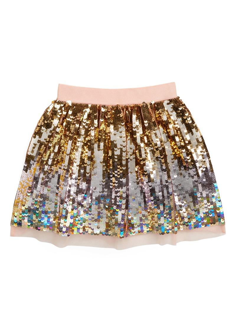 Mini Boden Sequin Skirt (Toddler Girls, Little Girls & Big Girls)