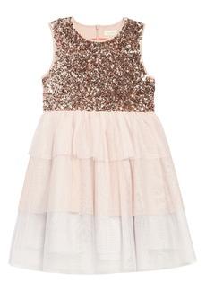 Mini Boden Sequin Tiered Tutu Dress (Toddler Girls, Little Girls & Big Girls)
