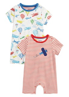 Mini Boden Set of 2 Plane Rompers (Baby)