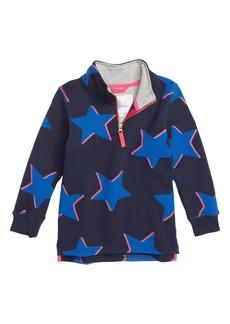 Mini Boden Shadow Star Half Zip Sweatshirt (Toddler Boys, Little Boys & Big Boys)