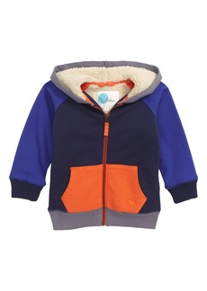 Mini Boden Shaggy Colorblock Zip Hoodie (Toddler Boys, Little Boys & Big Boys)