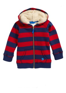 Mini Boden Shaggy Lined Hoodie (Toddler Boys, Little Boys & Big Boys)