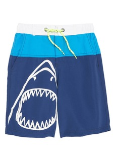 Mini Boden Shark Board Shorts (Little Boys & Big Boys)