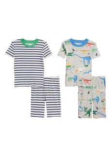 Mini Boden Short John 2-Pack Fitted Two-Piece Pajamas (Toddler Boys, Little Boys & Big Boys)