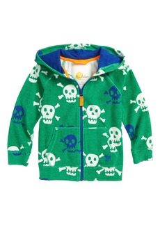 Mini Boden Skulls Towelling Zip Hoodie (Toddler Boys, Little Boys & Big Boys)